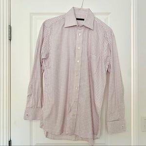 Burberry London Purple and White Dress Shirt